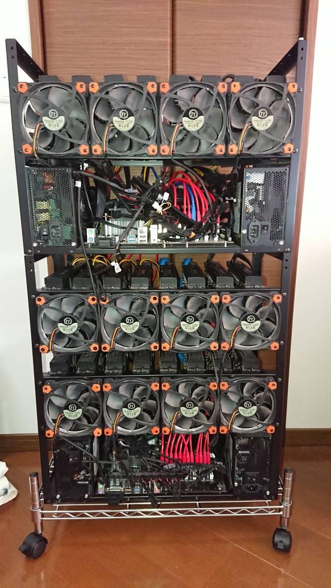 構築稼働確認済み マイニングリグ RX470 8GB 24枚 win10