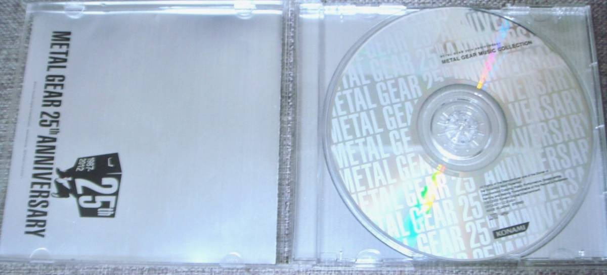 ◆【METAL GEAR 25th ANNIVERSARY METAL GEAR MUSIC COLLECTION】メタルギアソリッド/METAL GEAR SOLID /サントラ/ベスト/CD_画像2