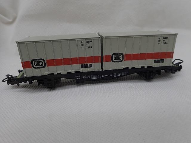 【大黒屋】中古!!☆Marklin メルクリン ContainerWagen 4664 鉄道模型 HOゲージ ☆