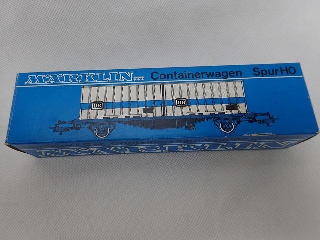 【大黒屋】中古!!☆Marklin メルクリン ContainerWagen 4664 鉄道模型 HOゲージ ☆_画像6