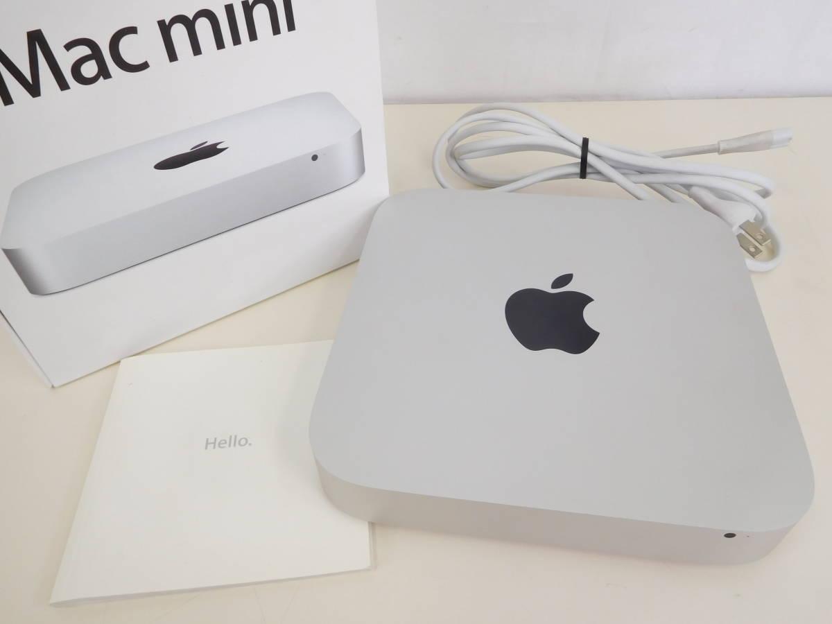 Apple Mac mini マックミニ A1347 2×2GB ジャンク品 AC/取説/箱有 4:12MNO1.2