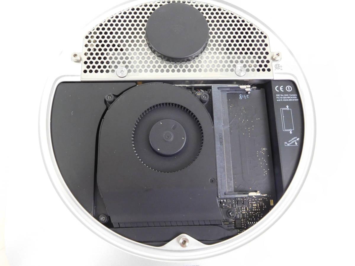 Apple Mac mini マックミニ A1347 2×2GB ジャンク品 AC/取説/箱有 4:12MNO1.2_画像7