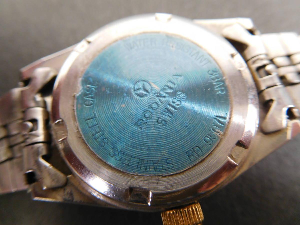 RODANIA ロダニア カナダ メイプルリーフ 金貨 腕時計 10/1OZ FINE GOLD コンビカラー 5:14ABC1.0_画像5