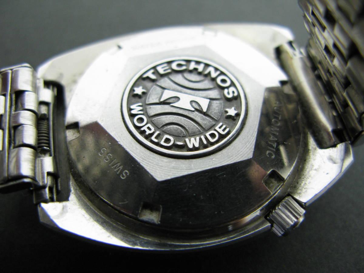 動作品 テクノス TECHNOS スカイソニック ディデイト 時計 腕時計 メンズ自動巻き オートマチック 5:22MNO0.7_画像4