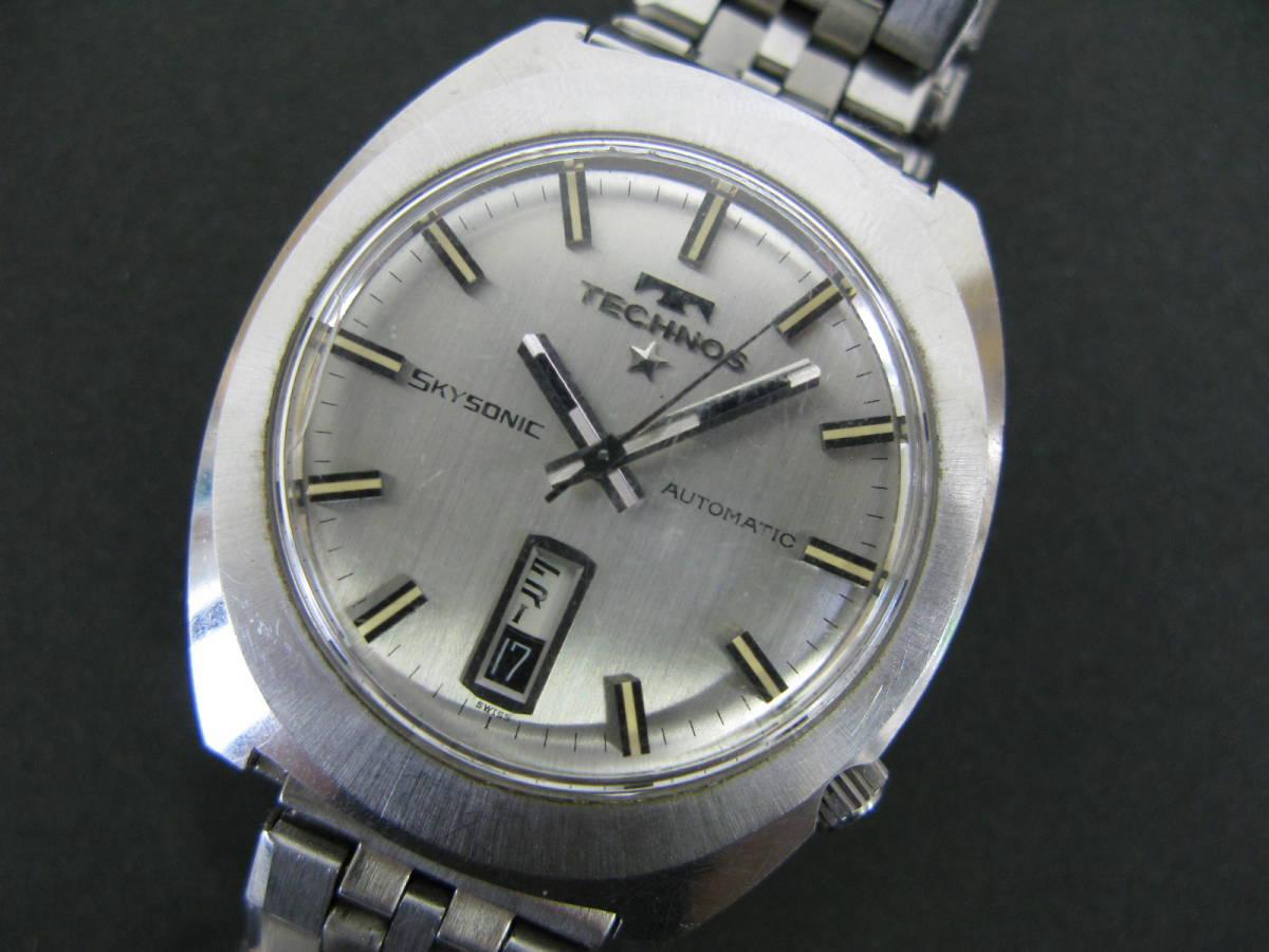 動作品 テクノス TECHNOS スカイソニック ディデイト 時計 腕時計 メンズ自動巻き オートマチック 5:22MNO0.7