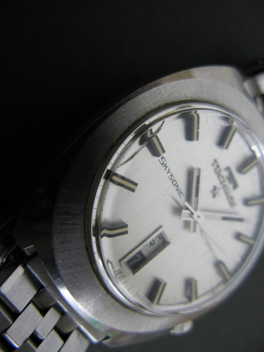動作品 テクノス TECHNOS スカイソニック ディデイト 時計 腕時計 メンズ自動巻き オートマチック 5:22MNO0.7_画像2