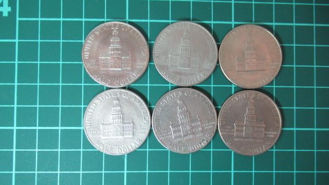 ☆アメリカ 1776年ー1976年 ケネディハーフダラー 建国200周年記念貨幣コイン 6枚 _画像4