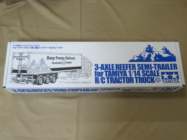 代引き可能! 3軸リーファー・セミトレーラー タミヤ 1/14 トレーラートラック用 田宮 電動RCビッグトラックシリーズNO,19 新品 未組立て