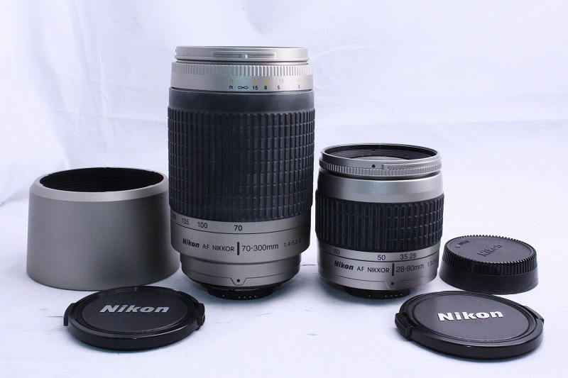 ☆★極上美品★☆初心者入門☆ Nikon ニコン D70s 純正 Wレンズセット  AF 28-80mm / AF 70-300mm  綺麗なレンズです。_画像7