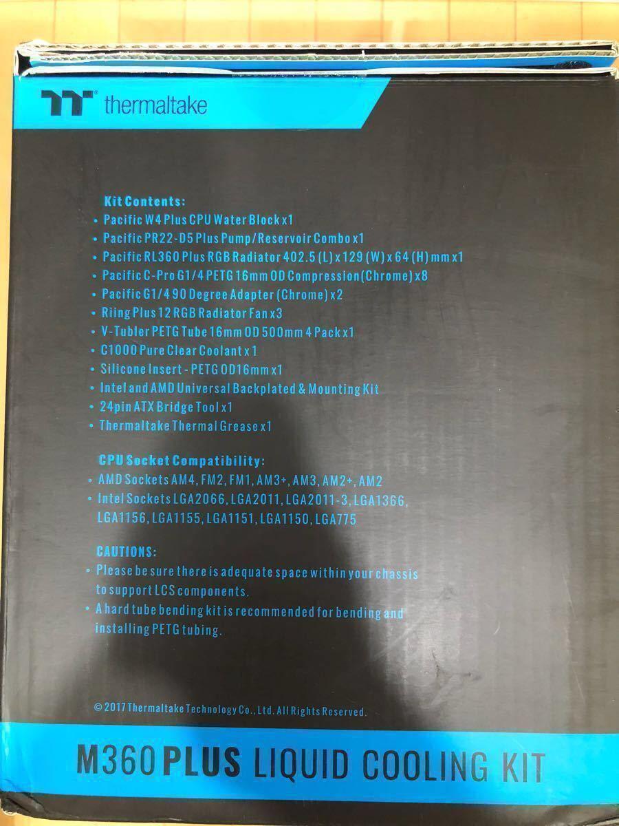 新品未開封 超特価!本格水冷ハードチューブキット Thermaltake Pacific M360 Plus D5 Hard Tube RGB Water Cooling Kit CL-W218-CU00SW-A_画像3