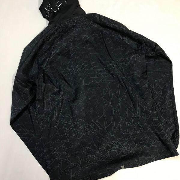 OAKLEY オークリー 吸汗速乾総柄ウィンドジャケット 上下セット 黒灰/灰 XL 2019-0427-1_画像2