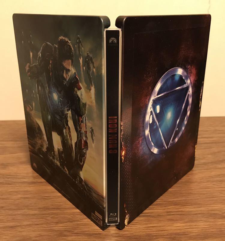 美品 【Amazon.co.jp限定】 アイアンマン3 3Dスーパー・セット(スチールブック仕様) アベンジャーズ _画像3