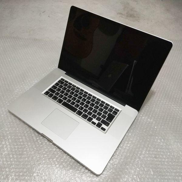 美品★ MacBook Pro 17 Core i7-4コア 新品SSD:250GB メモリ:8GB フルHD 充放電:295回 Office2016_画像4