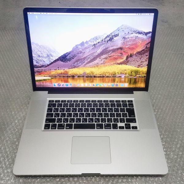 美品★ MacBook Pro 17 Core i7-4コア 新品SSD:250GB メモリ:8GB フルHD 充放電:295回 Office2016