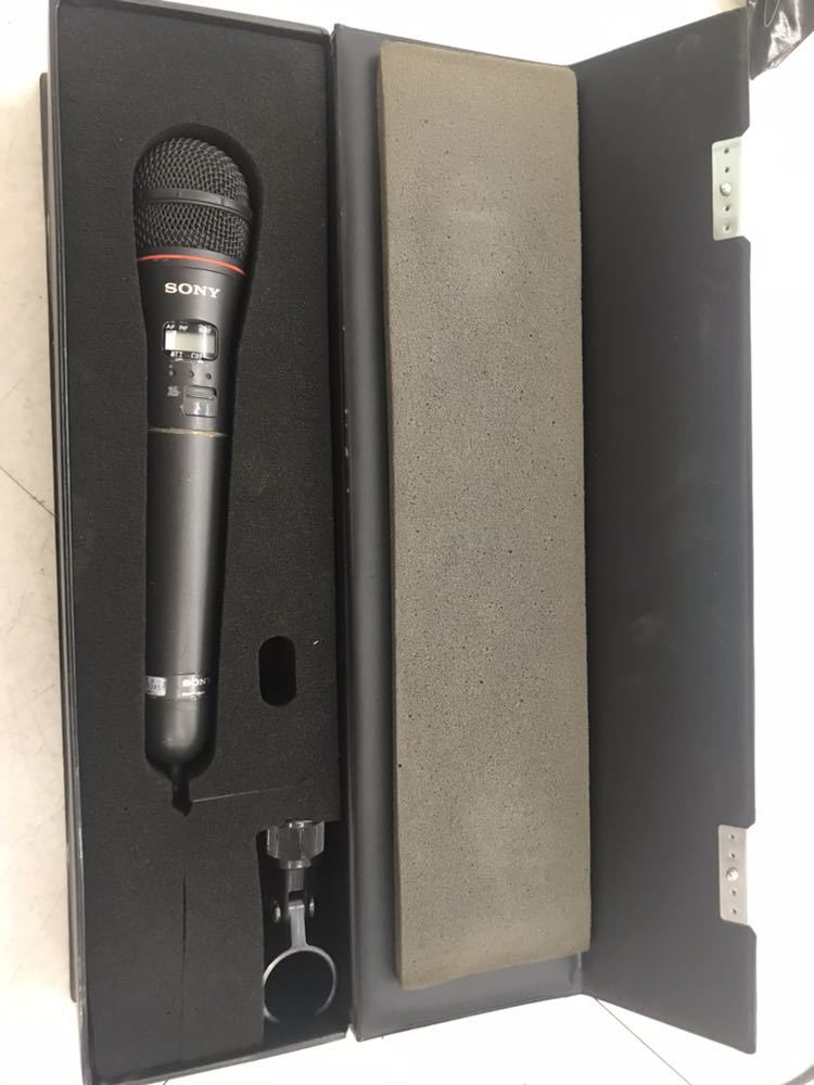 Sony マイク WRT-810 UHF synthesized wireless microphone ワイヤレスマイク ジャンク?音響 中古