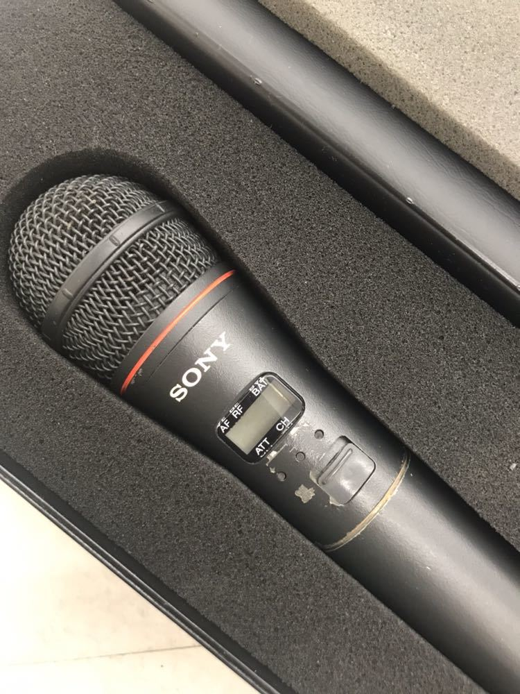 Sony マイク WRT-810 UHF synthesized wireless microphone ワイヤレスマイク ジャンク?音響 中古_画像4