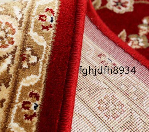 ■新品未使用■【ペルシャ絨毯】大判サイズ240m*340cm滑り止め付 アンティーク家具 絨毯150万縫い針 ウール/シルクフロアマット _画像3