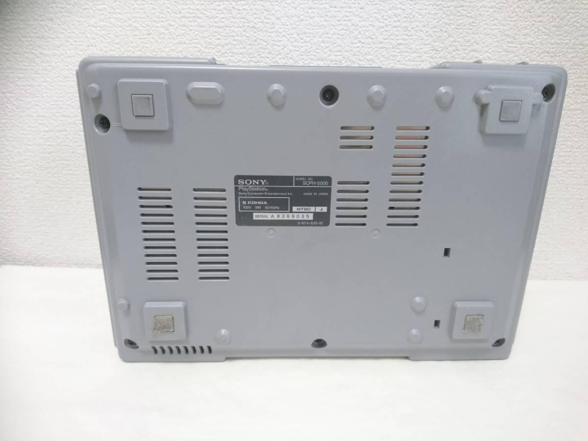 初代 PlayStation プレイステーション PS1 プレステ1 SCPH-5500 本体 SONY/ソニー 箱付き Y2019052206_画像4