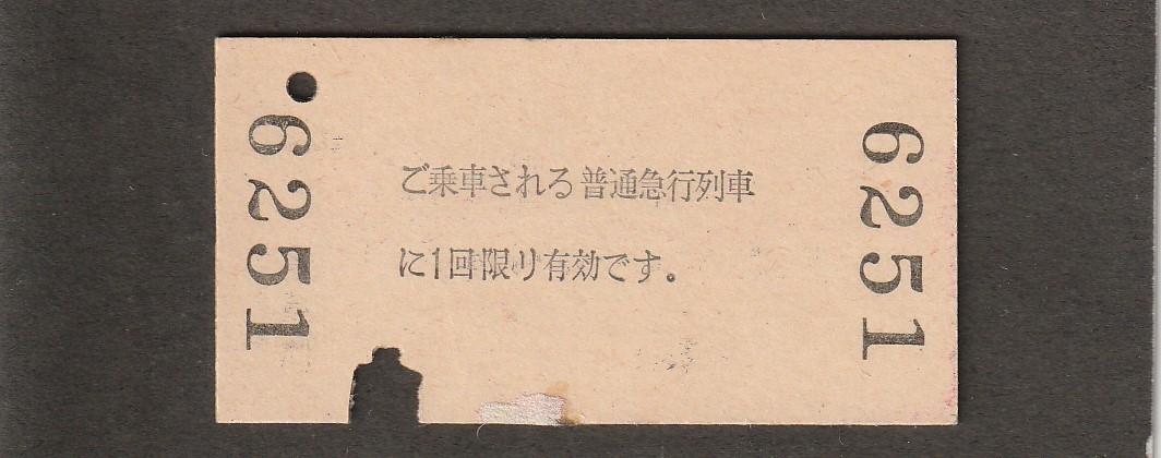 ◆急行券◆福崎→100㎞◆_画像2