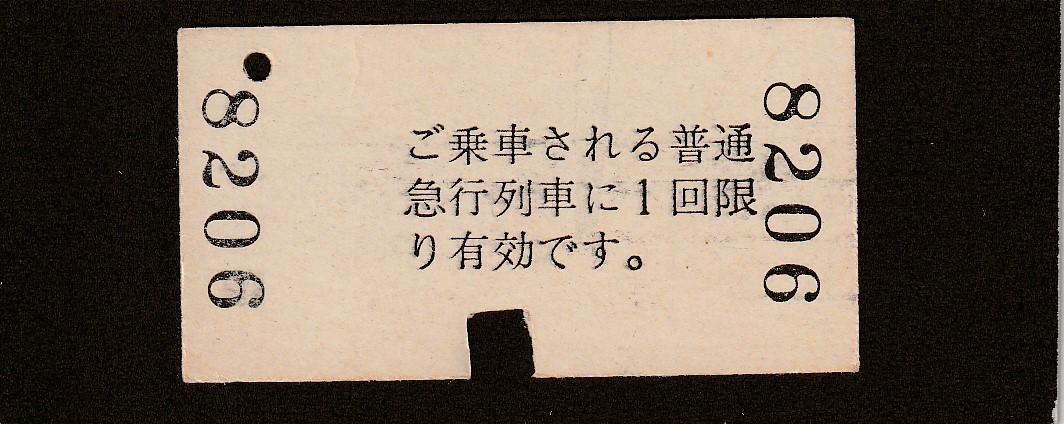 ◆急行券◆松永→100㎞まで◆_画像2