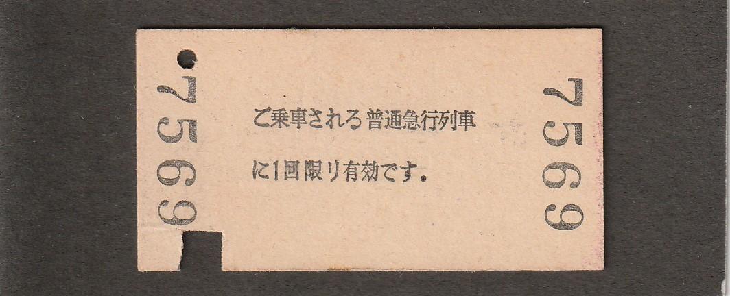 ◆急行券◆新井→100㎞◆新井駅発行_画像2