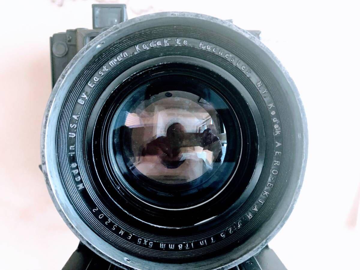 ★★★ 整備済 軍用スピグラ KE-12 + Kodak Aero Ektar 178mm/F2.5 スピグラ エアロエクター SG/AE