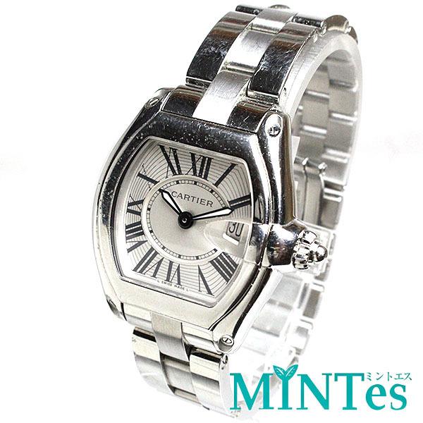buy online a0053 a43f7 Cartier カルティエ ロードスター レディース腕時計 クォーツ 2675 銀文字盤 シルバー ボーイズ 定番 人気