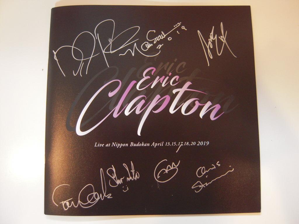 エリック クラプトン 2019 Japan Tour メンバー サイン パンフレット Clapton 武道館