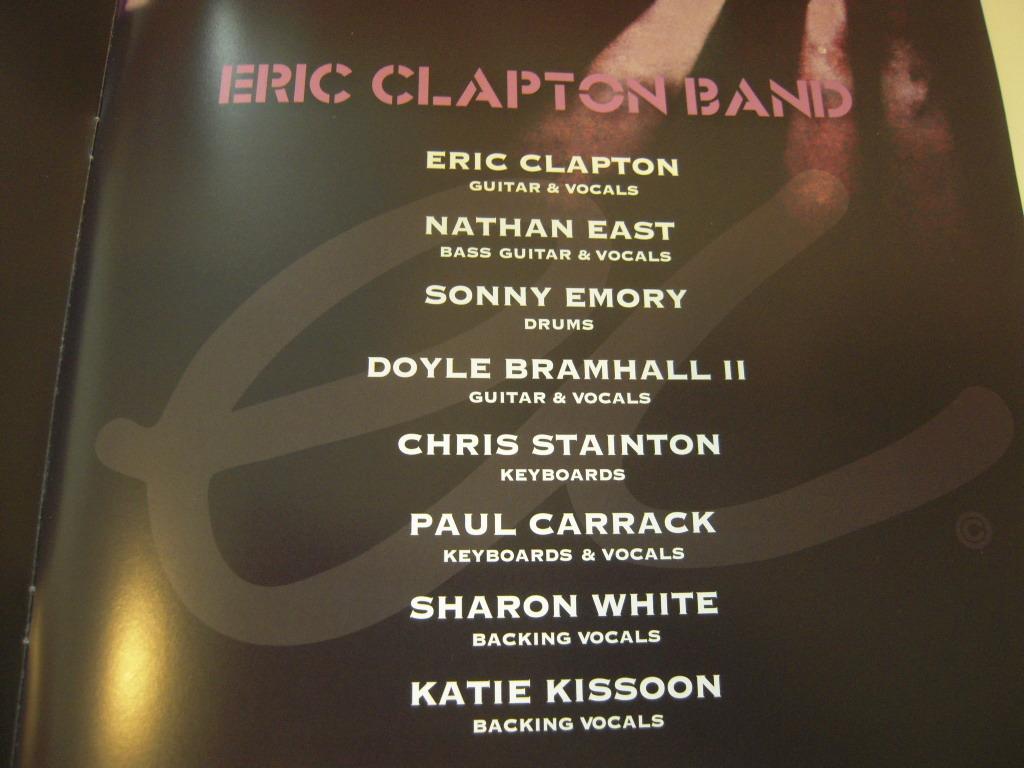 エリック クラプトン 2019 Japan Tour メンバー サイン パンフレット Clapton 武道館_画像3