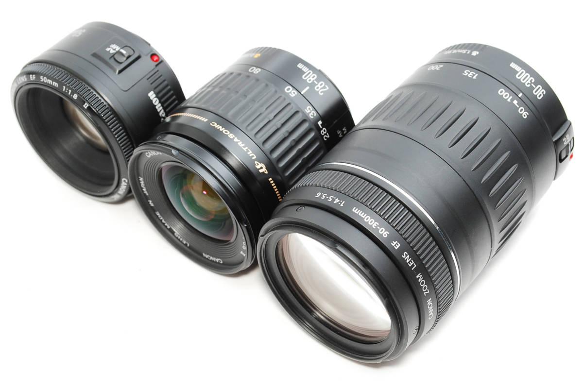 E0022★キャノン Canon EOS 70D 標準&望遠&単焦点 トリプルレンズセット_画像7