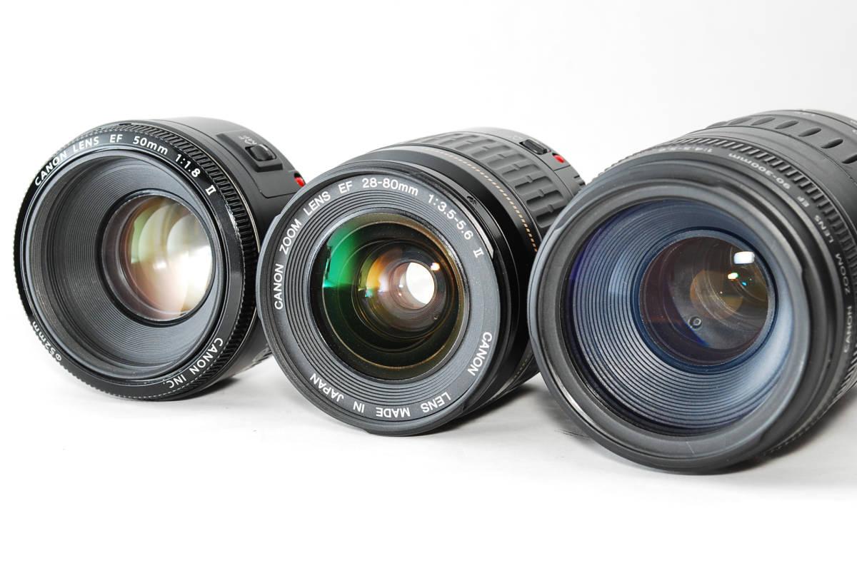 E0022★キャノン Canon EOS 70D 標準&望遠&単焦点 トリプルレンズセット_画像9