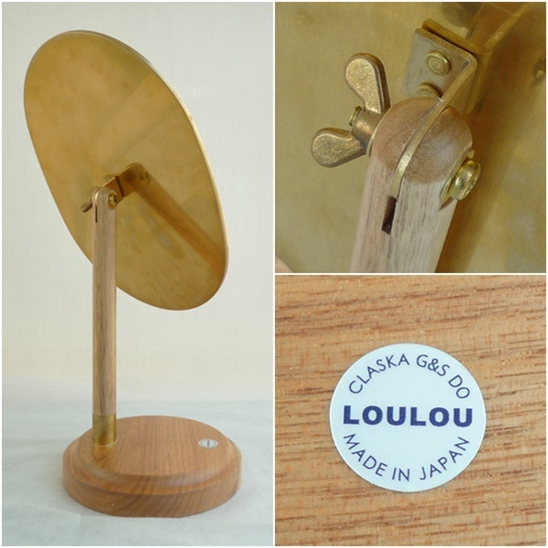 S7 CLASKA Gallery&ShopDO クラスカ ギャラリー&ショップドー テーブル 卓上 スタンド ミラー 鏡 真鍮使い 定価¥19440_画像3