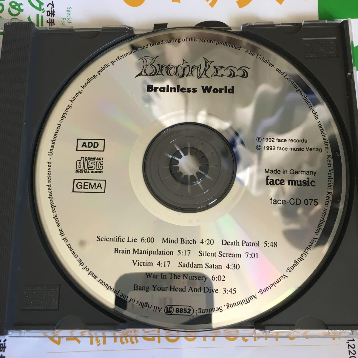 Brainless - Brainless World ('92) スラッシュ オリジナル FACE-MUSIC 激レア_画像2