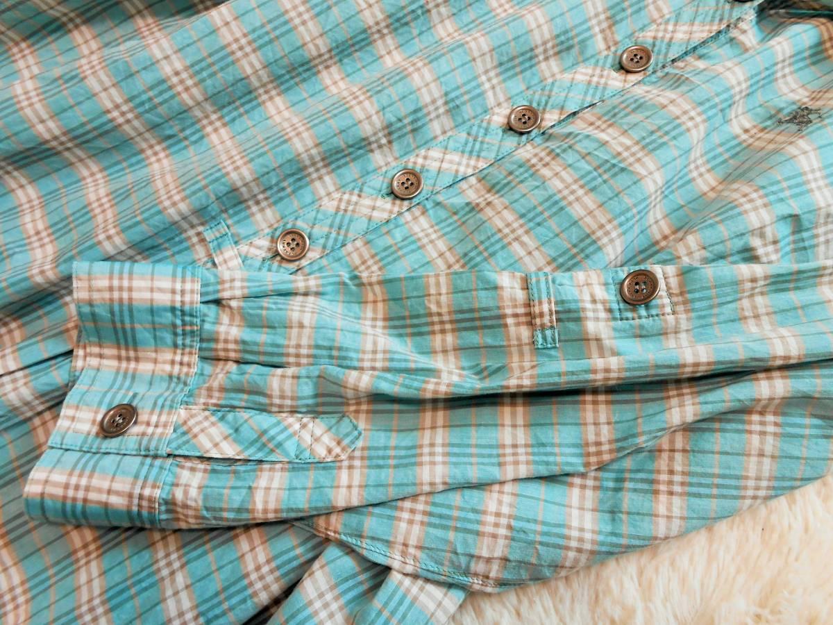 BURBERRY  BLUE LABEL  バーバリー ブルーレーベル チュニックワンピース ワンピース チェック柄 七分袖 ホース刺繍 サイズ 38 _画像5