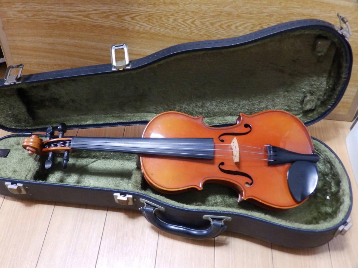SUZUKI VIOLIN 1980年製 1/2 スズキ バイオリン No.280 ハードケース付・長さ(約)53cm_画像1