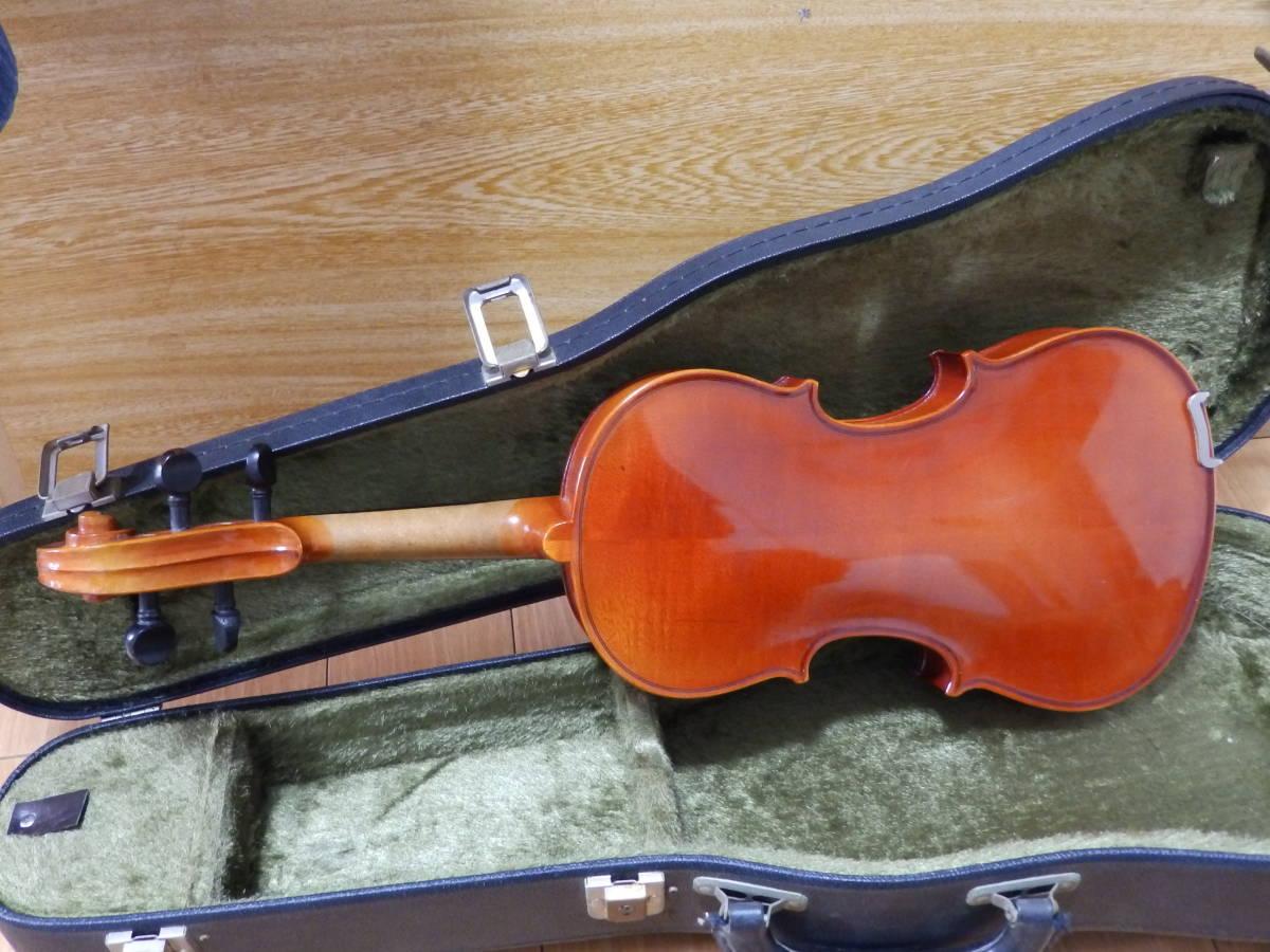 SUZUKI VIOLIN 1980年製 1/2 スズキ バイオリン No.280 ハードケース付・長さ(約)53cm_画像4
