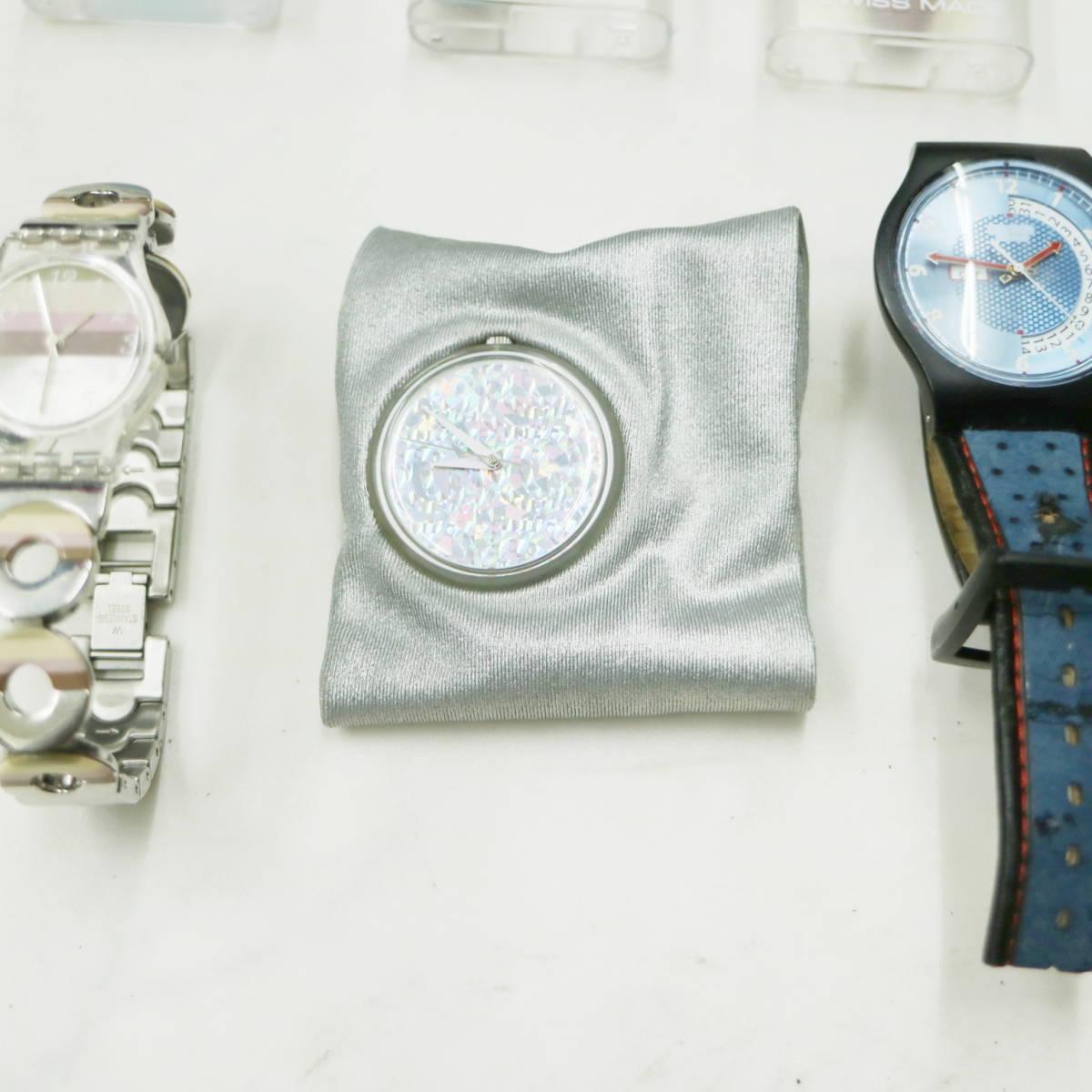 swatch スウォッチ 大量【14個】まとめ売り★ ジャンク 可動 電池切れ まとめて! 業者 フリマ 福袋 腕時計 ウォッチ w55g804_画像5