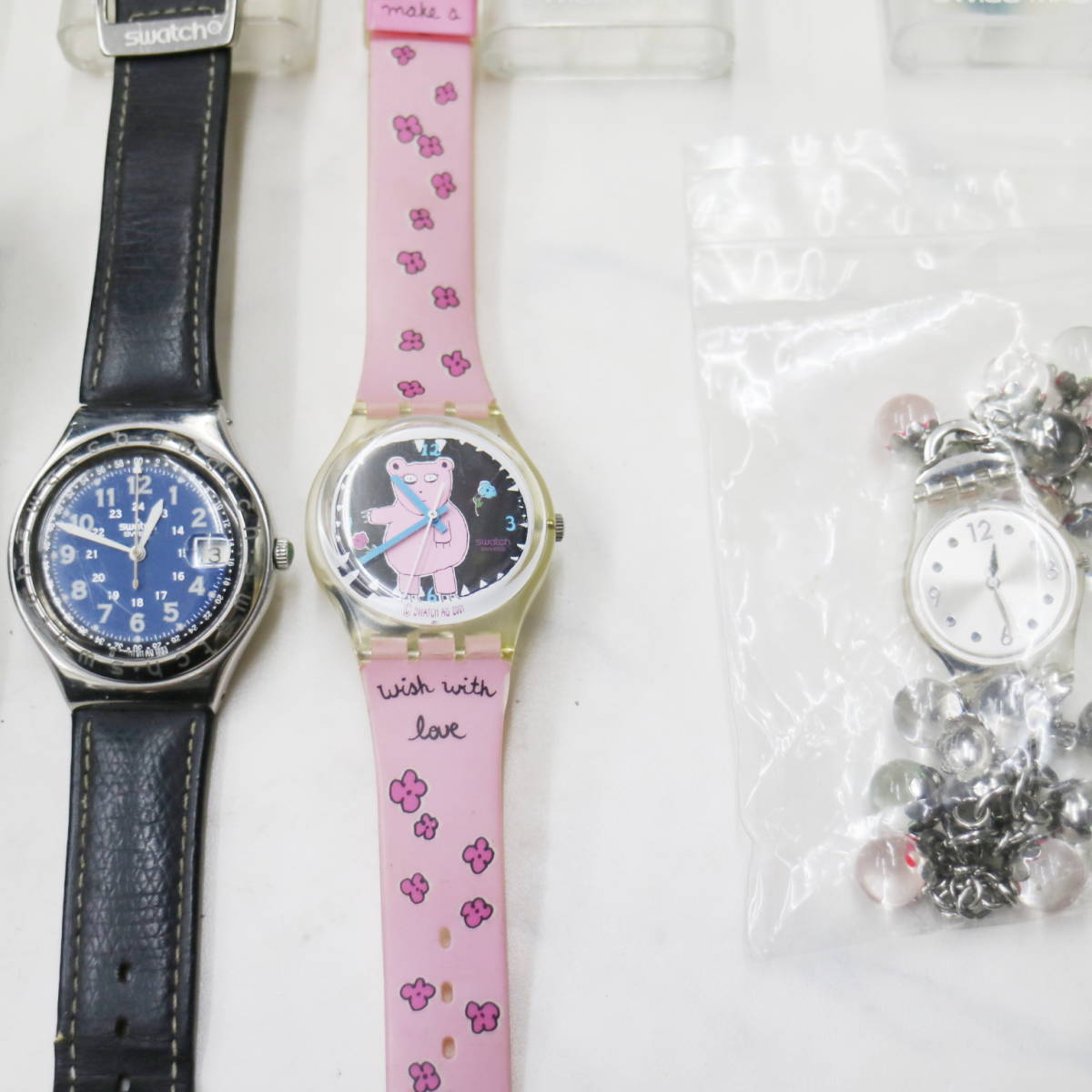 swatch スウォッチ 大量【14個】まとめ売り★ ジャンク 可動 電池切れ まとめて! 業者 フリマ 福袋 腕時計 ウォッチ w55g804_画像6