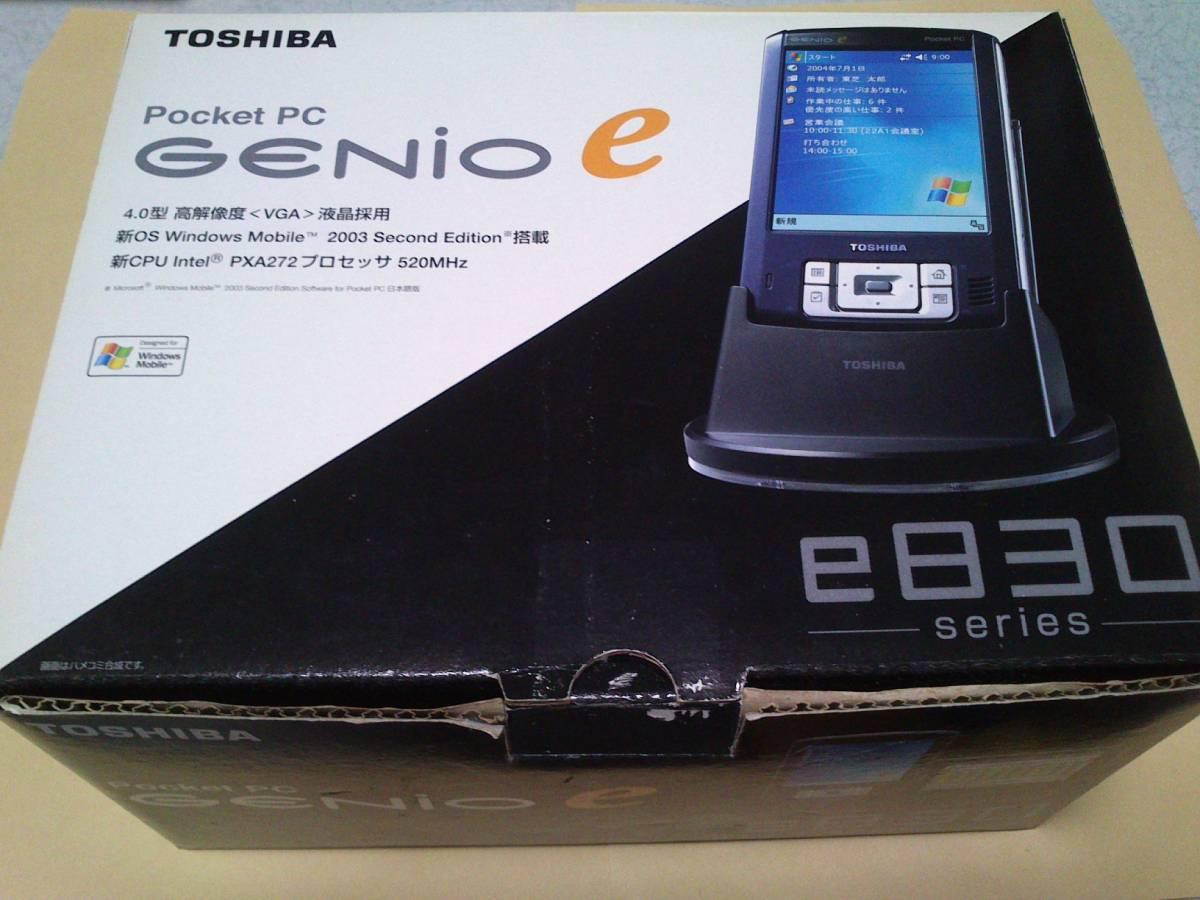 TOSHIBA PocketPC GENIO e830 PAPDA009 Windows Mobile 2003 東芝 PDA 中古 動作品_画像9