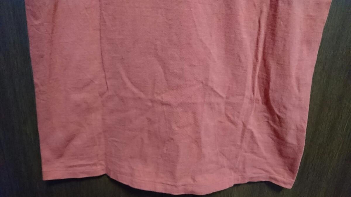 USED Barns outfitters 吊り編み 半袖Tシャツ カットソー レッド サイズM バーンズ_画像5