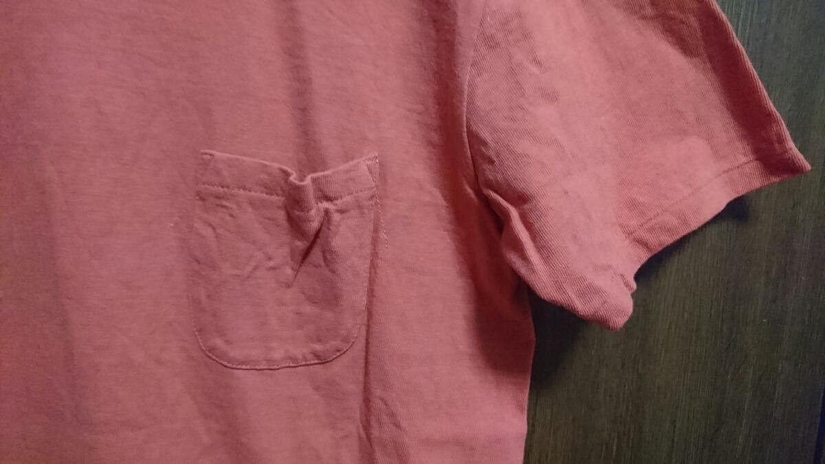 USED Barns outfitters 吊り編み 半袖Tシャツ カットソー レッド サイズM バーンズ_画像4