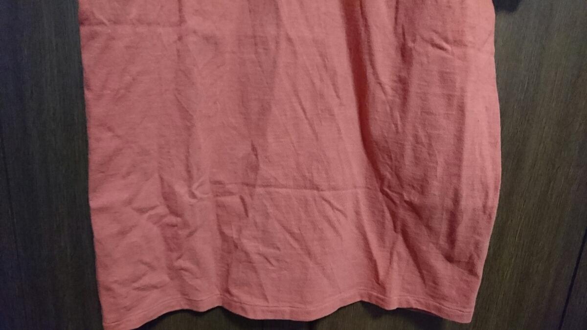 USED Barns outfitters 吊り編み 半袖Tシャツ カットソー レッド サイズM バーンズ_画像9