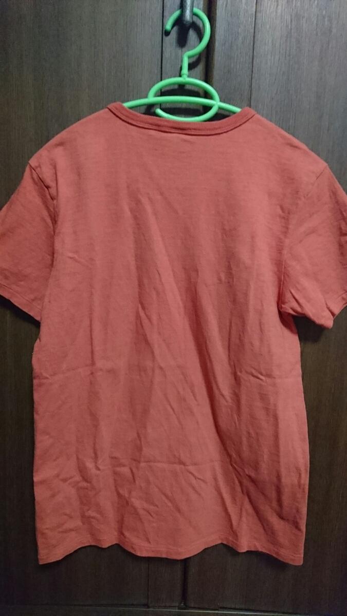 USED Barns outfitters 吊り編み 半袖Tシャツ カットソー レッド サイズM バーンズ_画像7