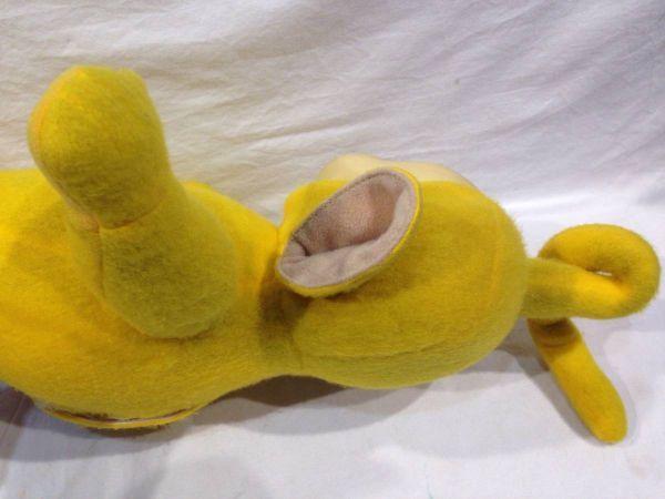 〇1288 レア 動作確認OK ぬいぐるみ テレタビーズ ラーラ (Laa-Laa) 黄色 イギリスアニメ フギュア 玩具_画像7