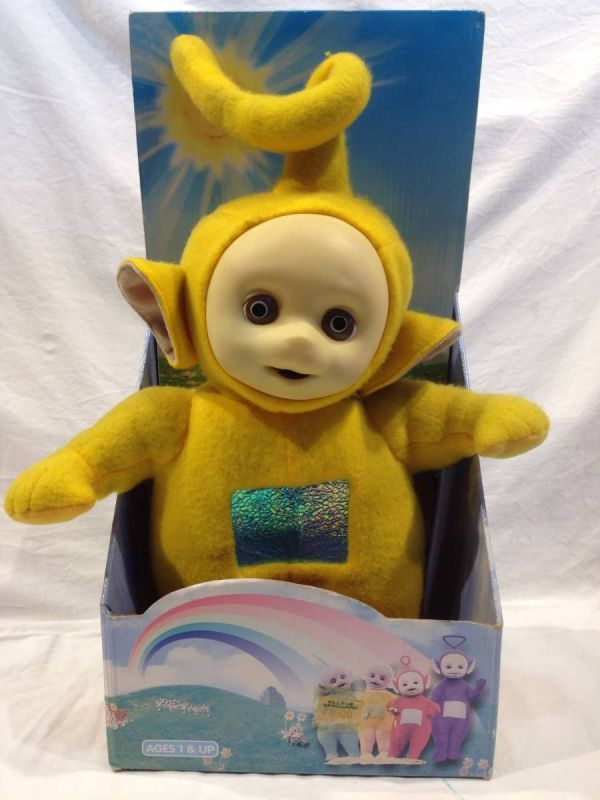 〇1288 レア 動作確認OK ぬいぐるみ テレタビーズ ラーラ (Laa-Laa) 黄色 イギリスアニメ フギュア 玩具