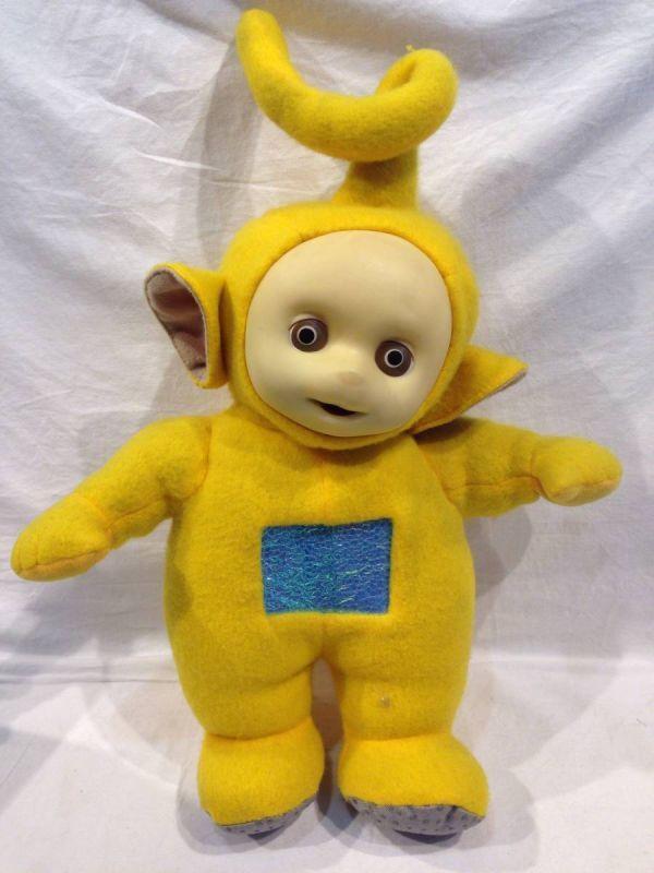 〇1288 レア 動作確認OK ぬいぐるみ テレタビーズ ラーラ (Laa-Laa) 黄色 イギリスアニメ フギュア 玩具_画像2