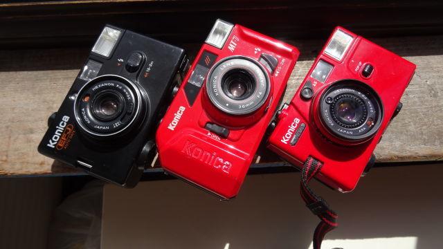 昭和レトロ コニカコンパクトカメラ使用可能3台_画像10
