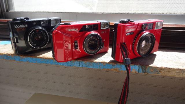昭和レトロ コニカコンパクトカメラ使用可能3台_画像8