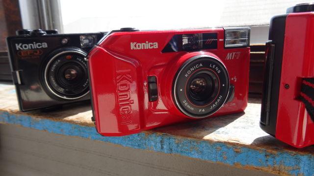 昭和レトロ コニカコンパクトカメラ使用可能3台_画像9