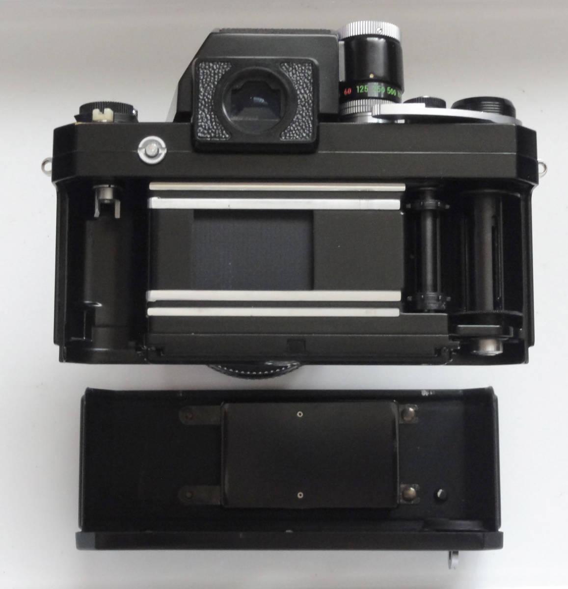 ニコンFブラックボディーフォトミックファインダーFTn付き、標準レンズの外観が大きい50mmF1.4のNikkor付き_画像7